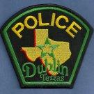 Dublin Texas Police Patch
