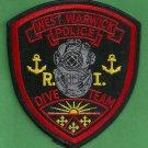 West Warwick Rhode Island Police Dive Team Patch