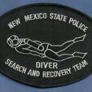 New Mexico State Police Dive Team Patch