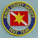 Kings County Sheriff California Police Dive Team Patch