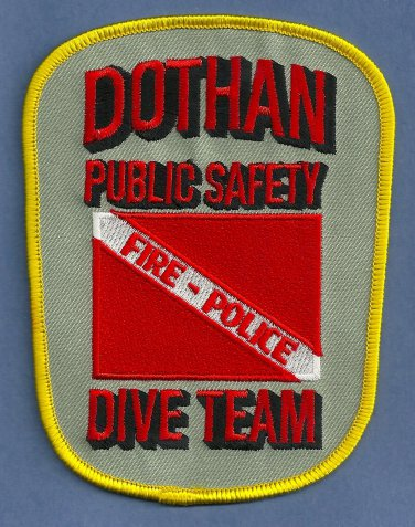 Dothan Alabama Fire Police Dive Team Patch