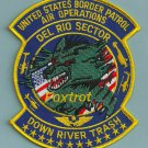 U.S. Customs Texas Del Rio Sector Police Helicopter Air Unit Patch