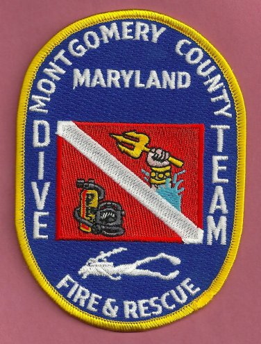Montgomery County Maryland Fire Dive Team Patch