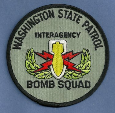 Washington State Patrol Police Bomb Squad Patch