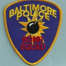 Baltimore Maryland Police Bomb Squad Patch