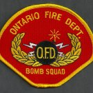 Ontario California Fire Bomb Squad Patch