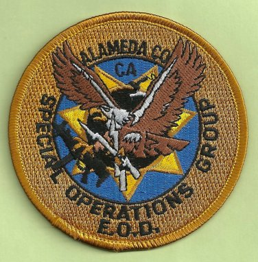 Alameda County California Police Bomb Squad Patch