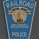 Boston & Maine Railroad Police Patch