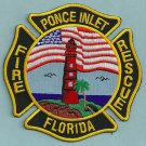 Ponce Inlet Florida Fire Rescue Patch Lighthouse