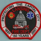 Lansing Michigan Fire Patch State Capital