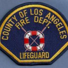 Los Angeles County California Lifeguard Fire Patch