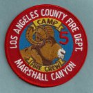 Los Angeles County Camp 5 Fire Patch Marshall Canyon