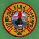 Hawaii County Air Rescue Paramedic Fire Patch