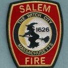Salem Massachusetts Fire Patch Witch City