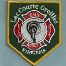 Lac Courte Oreilles Wisconsin Tribal Fire Patch
