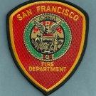 San Francisco California Fire Patch