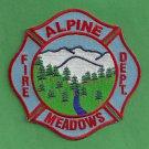 Alpine Meadows California Fire Patch