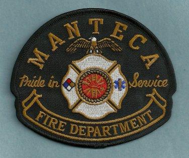Manteca California Fire Patch