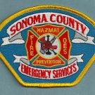 Sonoma County California Fire Patch