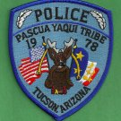Pascua Yaqui Arizona Tribal Police Patch