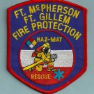 Fort McPherson-Fort Gillem Military Base Georgia Fire Patch