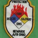 Newark Air Force Base Ohio Crash Fire Rescue Patch