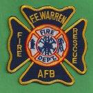 F.E. Warren Air Force Base Wyoming Crash Fire Rescue Patch