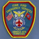 Arnold Air Force Base Tennessee Crash Fire Rescue Patch