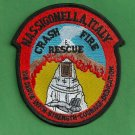 Sigonella Naval Air Station Italy Crash Fire Rescue Patch