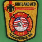 Kirtland Air Force Base New Mexico Crash Fire Rescue Patch