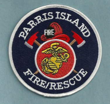 Parris Island U.S. Marine Base South Carolina Fire Rescue Patch