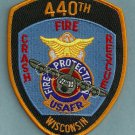 Wisconsin USAF 440th Air Wing Crash Fire Rescue Patch