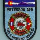 Peterson Air Force Base Colorado Crash Fire Rescue Patch