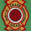 Langley Air Force Base Virginia Crash Fire Rescue Patch