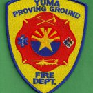 Yuma Proving Ground Arizona Crash Fire Rescue Patch