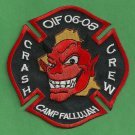 Camp Fallujah Military Base Iraq Crash Fire Rescue Patch