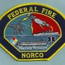 Norco Naval Warfare Assessment Center California Fire Rescue Patch