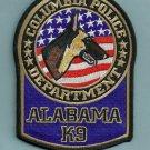 Columbia Alabama Police K-9 Unit Patch