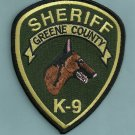Green County Sheriff Georgia Police K-9 Unit Patch