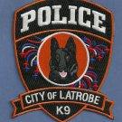 Latrobe Pennsylvania Police K-9 Unit Patch