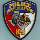 Aldine Independent School District Texas Police K-9 Unit Patch
