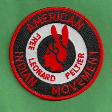 "AIM American Indian Movement ""Free Leonard Peltier"" Patch"