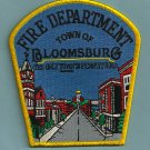 Bloomsburg Pennsylvania Fire Patch