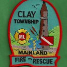 Clay Township Michigan Fire Rescue Patch