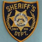 Gwinnett County Sheriff Georgia Police Patch