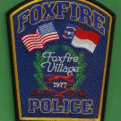 Foxfire North Carolina Police Patch