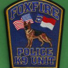 Foxfire North Carolina Police K-9 Unit Patch