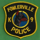 Fowlerville Michigan Police K-9 Unit Patch