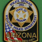 Wellton Arizona Police Patch