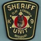 Clay County Sheriff Missouri Police K-9 Unit Patch